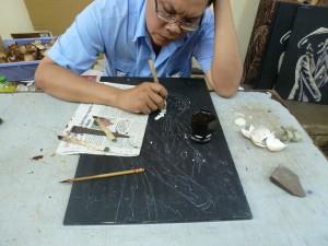 concentration de l'artiste b